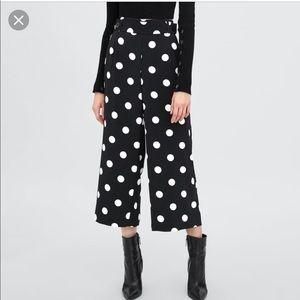 Zara Polka Dot Culottes